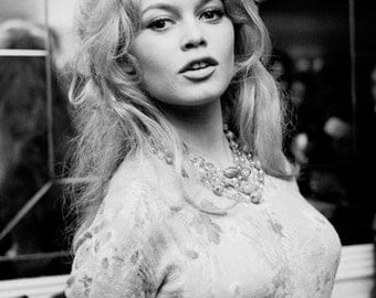 Brigitte Bardot Portrait Photo Art Poster Print