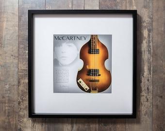 McCartneys Bass - Beautiful framed Beatles print