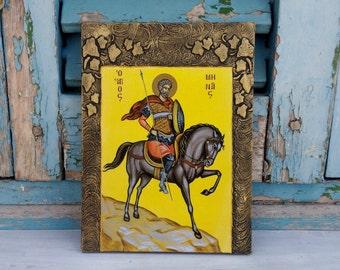 Saint Menas,St Mena,Saint Minas,Saint Mina,Saint Mennas,Egyptian Saint,Military Saint,Patron Saint,Wonder Worker,Christian Saint,Saint Icon