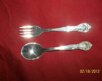 infant fork and spoon
