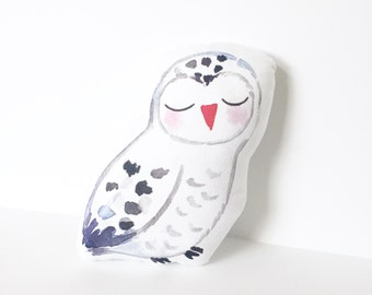 Owl, Nursery Pillow, Owl Pillow, White Owl, Kids Pillow, Kids Decor, Owl Cushion, Nursery Cushion, Kids Gift, Baby Shower Gift, Woodland