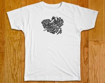 Flowers Peonies Print T-Shirt