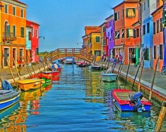 Italy photos, Burano photos, Boats photos, fine art photos, Venice photos, Wall Art