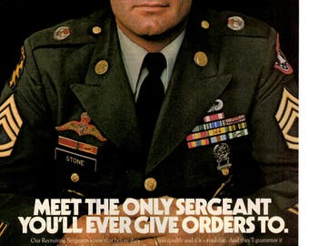 1985 Army Recruitment vintage magazine ad Be all you can be (1703)