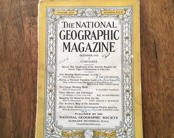 1930s National Geographic Magazine-October 1934 Volume LXII Number Four