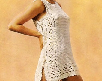 Crocheted Tunic, Beach Cover, Short Dress, Crochet Pattern. PDF Instant Download.
