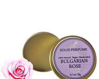 Rose Solid Perfume, Organic Rose Perfume Bar, Vegan Perfume, Natural Perfume, Gift Idea