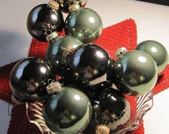 Christmas Ornaments, Ball Ornaments, Granite & Green Ornaments