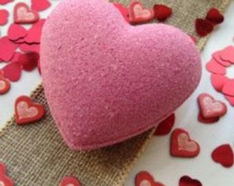"""Jumbo """"LOVE SPELL"""" Heart shaped bath bombs"""