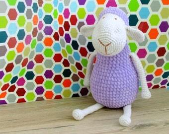 Crochet plush sheep toy / sheep stuffed animal / plush sheep / plush stuffed animals / sheep soft toy / baby sheep / sheep lavender / lamb