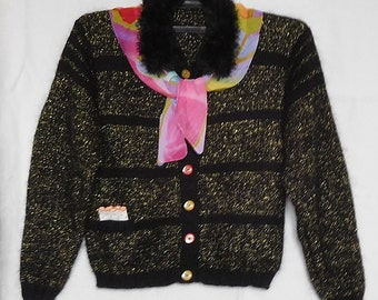 Жакет  (блуза) теплый, ручной вязки,  размер L – XL (размер 48-52) / The jacket (blouse) warm, hand-knitted, size L - XL (size 48-52)