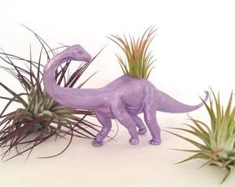 Metallic Purple Dinosaur Planter / Air Plant Holder / Ionantha /Desk Accessory / Home Decor  / Office Planter /Hand Made  / Perfect Gift