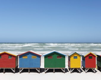 Ocean Print, House beach, Beach Print, Ocean Wave Print, Coastal Print, Beach Decor, Beach Art, Coastal Decor, Water Print, colorful print