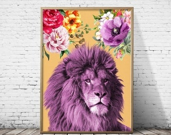 Lion print, Nursery wall art, Safari decor, Safari animal, Safari nursery decor, Nursery print, Safari nursery, Safari photography