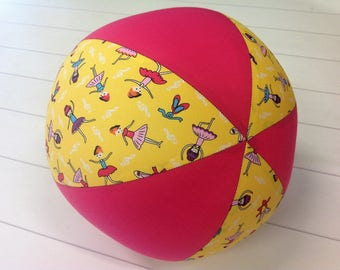 Balloon Ball Fabric, Balloon Ball Cover, Portable Ball, Travel Ball, Sensory, Special Needs, Ballerina, Yellow, Pink, Eumundi Kids