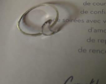 ring shape silver 'Moon'