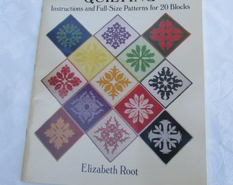 Hawaiian Quilting:  Instructions and Full-Size Patterns for 20 Block Designs