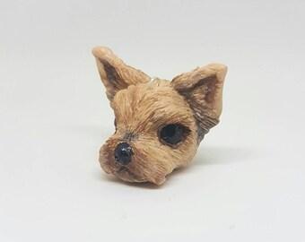 Polymer clay Yorkshire terrier pendant, polymer clay dog, polymer clay pet, ooak jewellery, handmade Yorkshire,  handmade pet