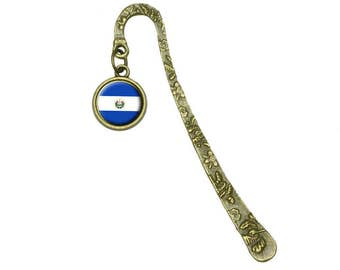 Flag Of El Salvador Book Bookmark Placeholder With Charm