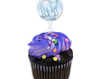 Polar Bear Cake Cupcake Toppers Picks Set