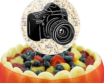 Photographers Camera Cake Top Topper