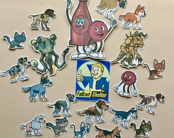 Fallout Shelter Die Cut Sticker Flakes