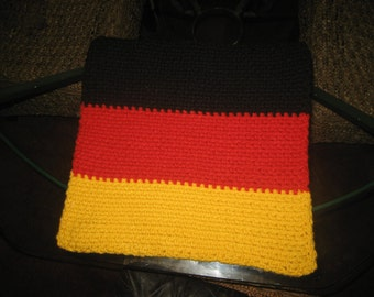 Hand Knit German Flag