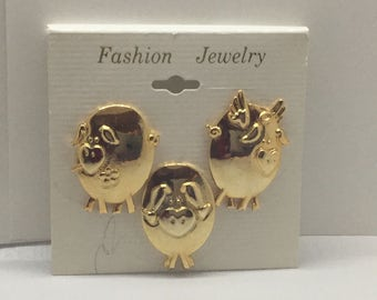 Happy Pigs Fashion Jewelry / Never Used Pins