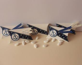 12 candy boxes * baptism - Communion * Theme sailor *.