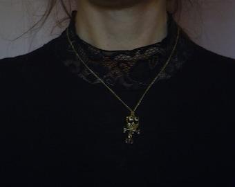 owl pendant necklace, vintage owl necklace