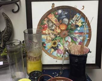 Pagan/Wiccan Wheel of the Year Watercolor Illustration - Giclée Print - Imbolc Ostara Beltane Litha Lughnasadh Lammas Mabon Samhain Yule