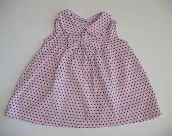 COLLARED PARTY DRESS - special occasion, birthday, holiday, pink, girls dress, toddler dress, toddler, baby, girls clothing, handmade