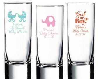 24 pcs Baby Shower Personalized Tall Shot Glass  - JM6903895-01005