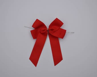 Wire sealing-stripe bow in Red