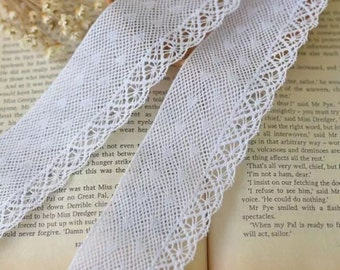 1 3/4 inch wide white cotton lace selling by the yard