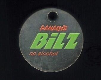 Trolley Chip for shopping cart - Bilz Panache Beer no alcohol - Swiss trolley chip jeton coin vintage token Switzerland