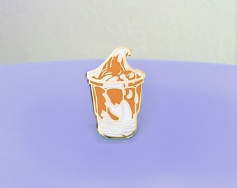 Caramel Sundae Enamel Pin