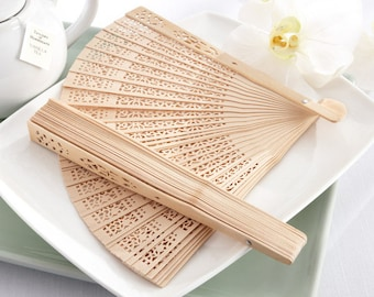 20 pcs DIY Sandalwood Fans - Wedding Hand Fans - Hand Fan Favors - FC6203