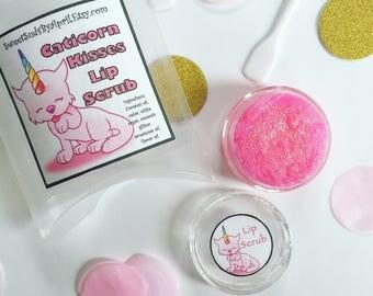 Caticorn Kisses Lip Scrub - All Natural Lip Scrub - Lip Polisher - For Kissable Lips