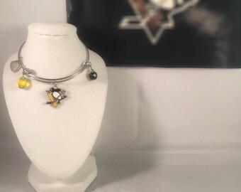PITTSBURGH PENGUINS EXPANDABLE bangle bracelets