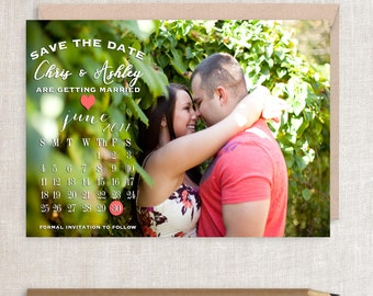 Calendar Save the Date, Save the Date, Wedding Save the Date, Photo Save the Date, Save the Date Card, Save the Date, Digital Printable File