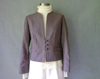 vintage purple wool blazer/jacket made in Canada women's size S/M
