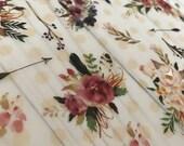 VELLUM // Boho Floral Printed Vellum