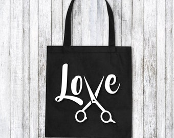 Custom Tote bag - hairdresser tote bag - hairdresser gift idea - hairstylist gift idea - hairdresser bag