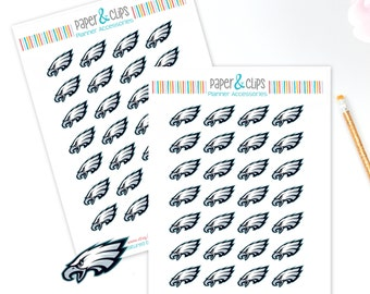 28 Philadelphia Eagles Football Reminder or Planner Stickers
