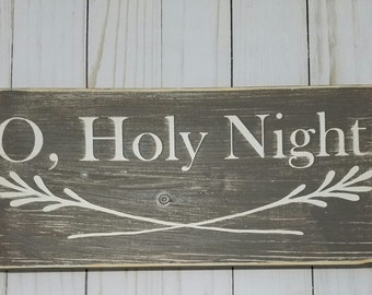 O Holy Night wood sign /// Christmas sign /// Christmas decor