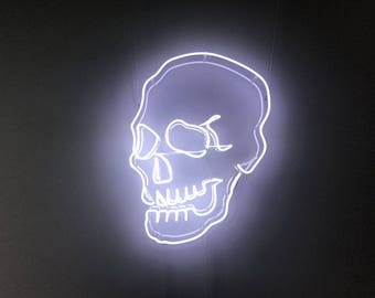 Neon Skull  - Neon Sign - Fairground Lights - Ride Lights