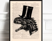 Dinosaur Poster, Brother Poster Gift, Dinosaur Room Decor, Dorm Decorations, Cool Dinosaurs, Stocking Stuffer, Funny Animal Print, Home  004