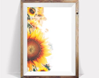 Sunflower,Sunflower Print,Flower Poster,Sunflower Poster,Sunflower Large Print,Sunflower Decor,Flower Print,Sunflower Art,Sunflower Wall Art