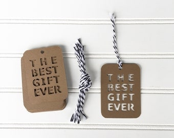 The Best Gift Ever Kraft Cardstock Gift Tag Set of 12